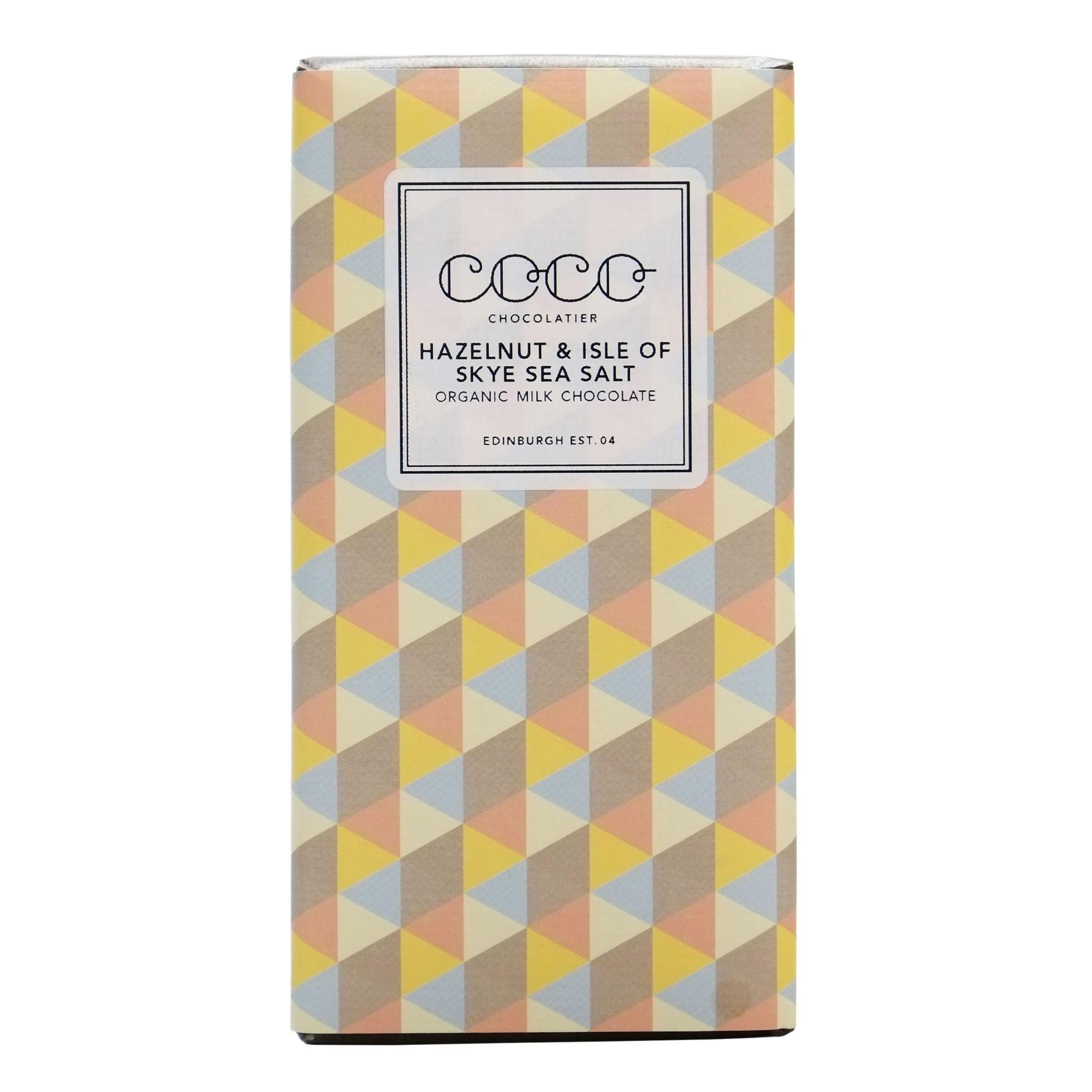 Hazelnut & Isle of Skye Sea Salt Organic Milk Chocolate Bar