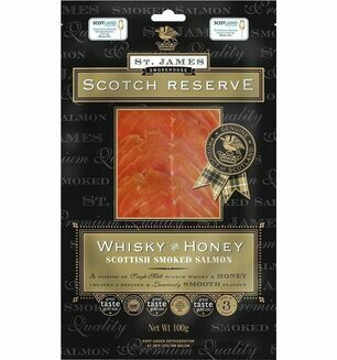 St James Smokehouse Whisky & Honey Award Winning Scottish Smoked Salmon 100g